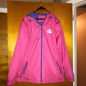 Disneyland pink raincoat